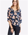 Memo Top V-Neck Pintuck