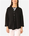 Esplanade Cardi Swing Knit V-Neck