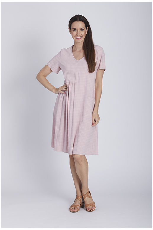 Cordelia St Dress V-neck Gathered Waist