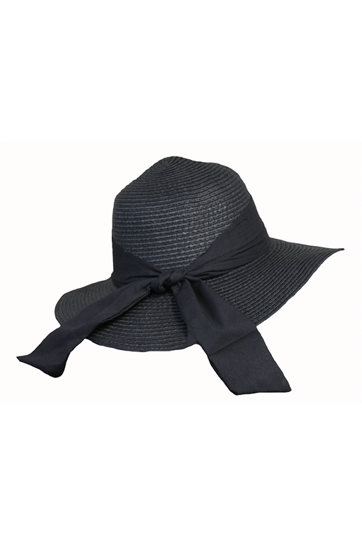 Risha Rose Hat Wide Brim Plain Bow