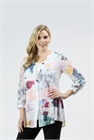 Clarity Blouse Digital Print Pleat Front