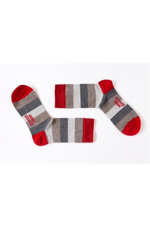 Munro God Socks Moscow Red