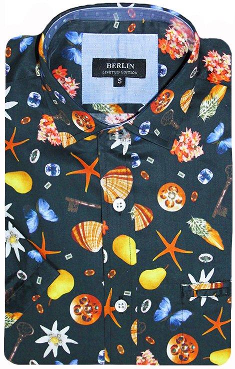 Berlin Shirt S/S Shell Print - Men's Shirts | Yarntons