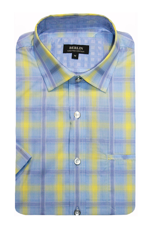 Berlin Shirt S/S Wide Check