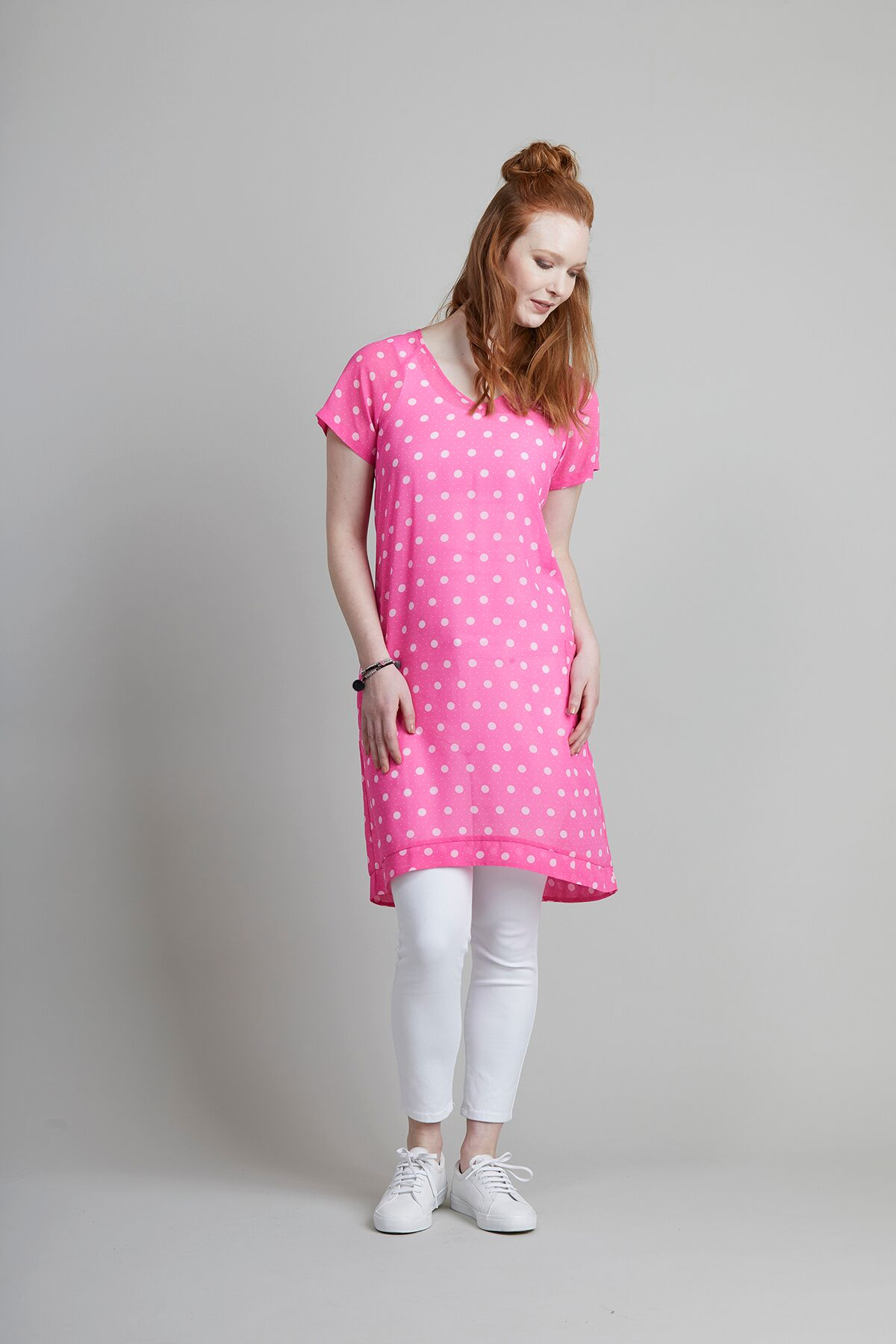 2b761f75a5 Memo Dress S/S V Neck Chiffon Cotton - Women's Dresses | Yarntons ...