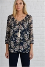 Memo Blouse Peasant Gathered Neck