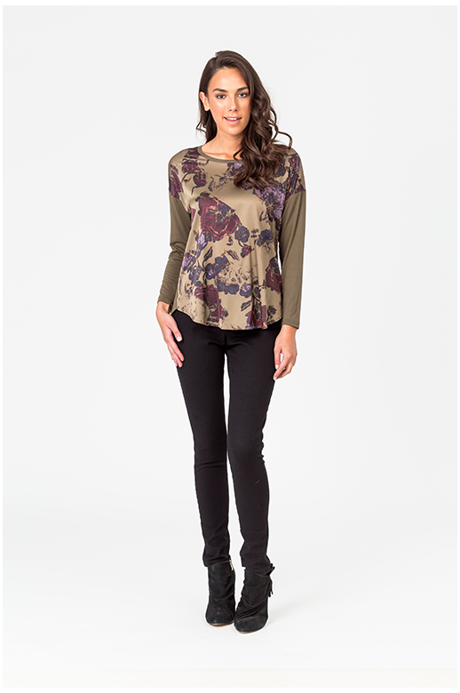 Classified Top Luxe Print Front