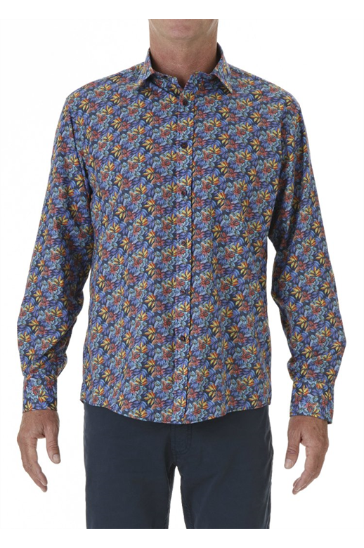 David Smith Shirt L/S Maple Print