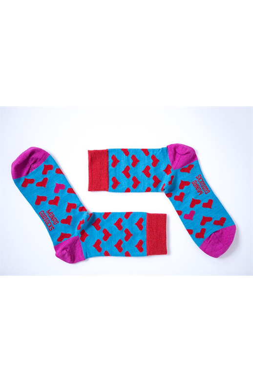 Munro God Socks Paris Red