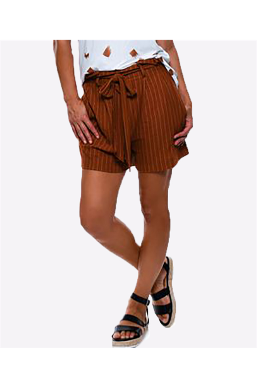 Seduce Short Stripe Tie Waist