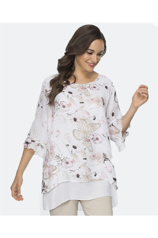 Clarity Top Layered Delicate Floral